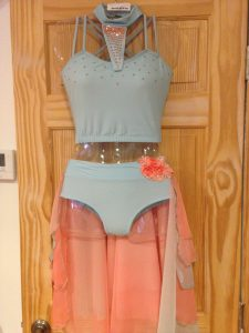 Light Blue Two-Piece Costume